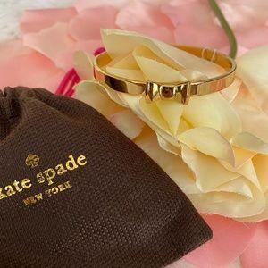 KATE SPADE gold tone bow bracelet. NWT.